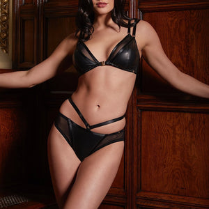Load image into Gallery viewer, Mia Leather Soft Cup Bra