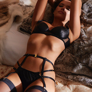 Load image into Gallery viewer, Nina Leather Ouvert Brief