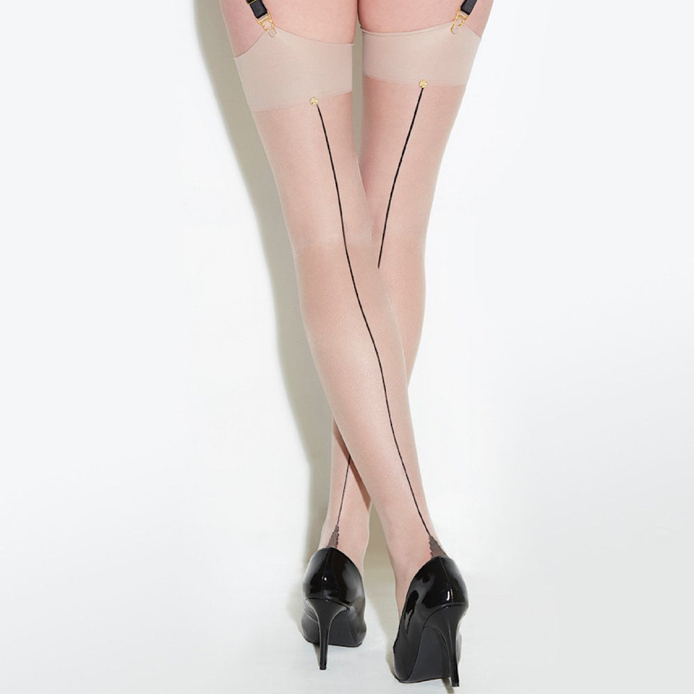 Luxurious seamed stockings made in England