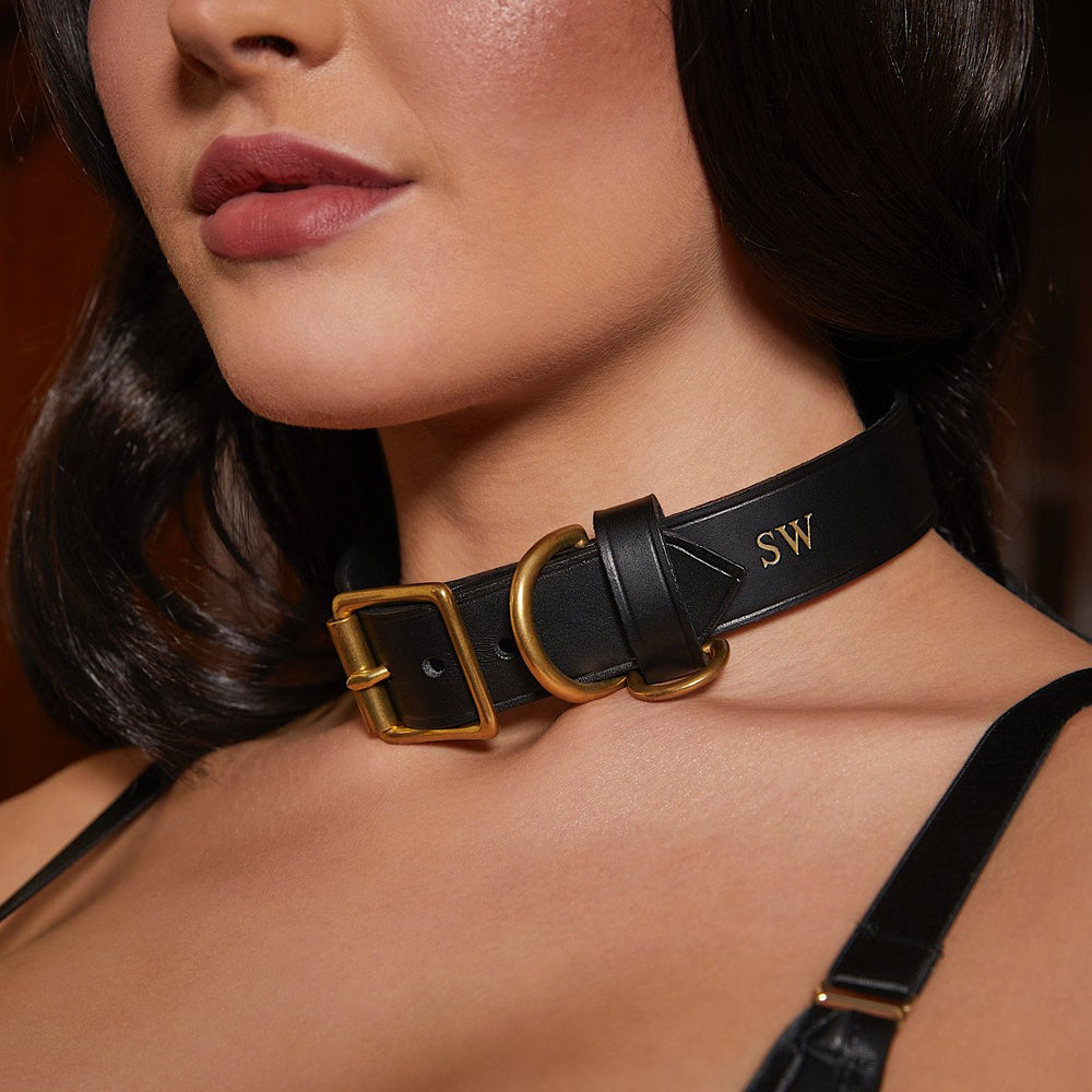 Load image into Gallery viewer, Leather Collar