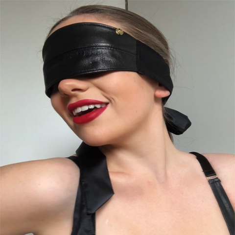 Load image into Gallery viewer, Real Leather Blindfold