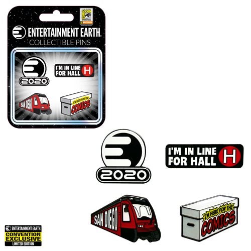 Entertainment Earth SDCC Exclusive Pin Set