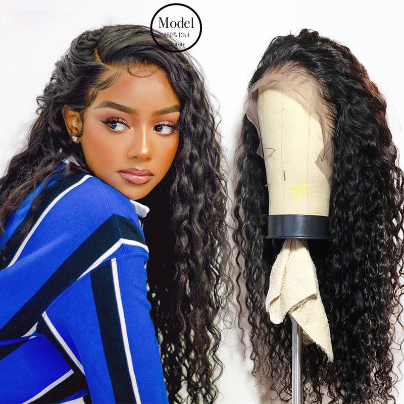 Brazilian Hair Transparent Lace Front Human Hair Curls Wigs Lady Wig