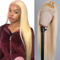613 Blonde Wig Lace Front Human Hair Wigs Virgin Hair Straight Lace Front Wigs