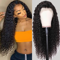 GLUE-FREE DEEP-ROLLED HUMAN HAIR WIG