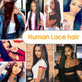 Peruvian Straight Wigs Human Hair Lace Frontal 360 Closure Pre Plucked Hairline With Baby Hair Medium Brown Lace Color