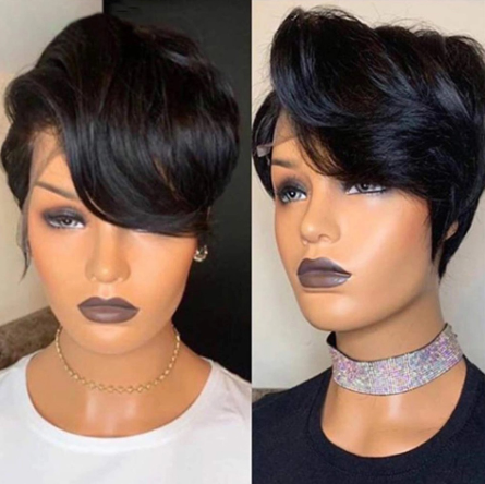 13x6 Lace Front Human Hair Wigs For Women Pixie Cut Wig Wavy Brazilian Remy  Short Bob Lace Front Wigs 360 Lace Frontal Wig