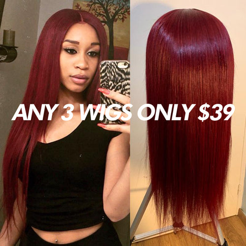 Straight Brazilian Hair 360 Lace Front Human Hair Wig Pre Plucked