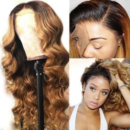 Brazilian Lace Front Human Hair Wave Wigs Body Wave Lady Wig Color