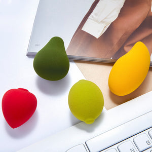 4 Pcs fruits makeup sponge set