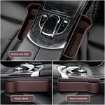 Multifunctional Car Seat Leather Storage Box