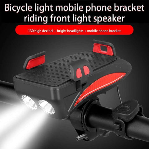 Multifunction 4 IN 1 Bike Flashlight | Phone Holder Power Bank