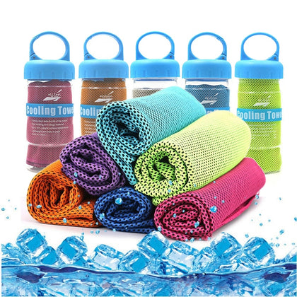 Sport Ice Towel - Rapid Instant Cooling Microfiber Quick-Dry Ice Towels
