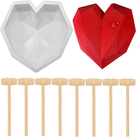 Diamond Heart Silicone Mousse - Cake Mold