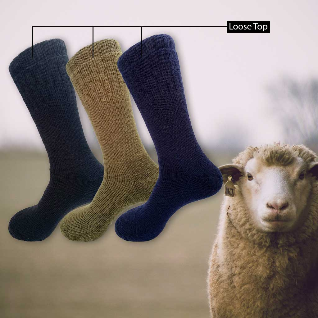 Merino Wool Health/Loose Top Sock King Size