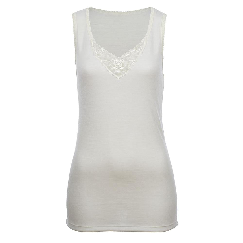 Thermo Fleece® – Ladies Sleeveless Vest – Lace Motif