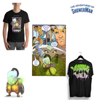 Master Mold Graphic Tee and Comic Package