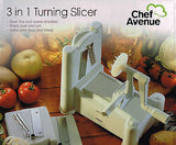 Chef Avenue 3 in1 Turning Vegetable Slicer FREE DVD-Better Health with RawFood