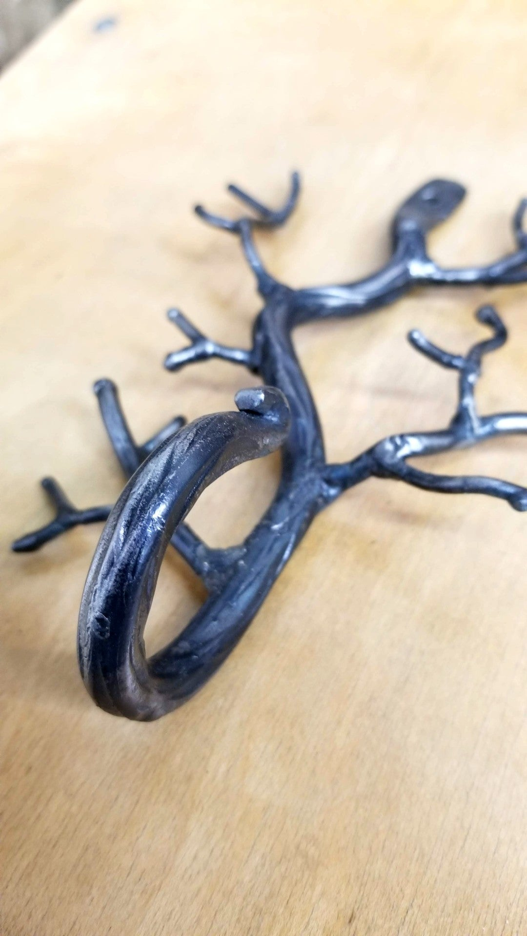 Hand-Forged Branch Wall Hook