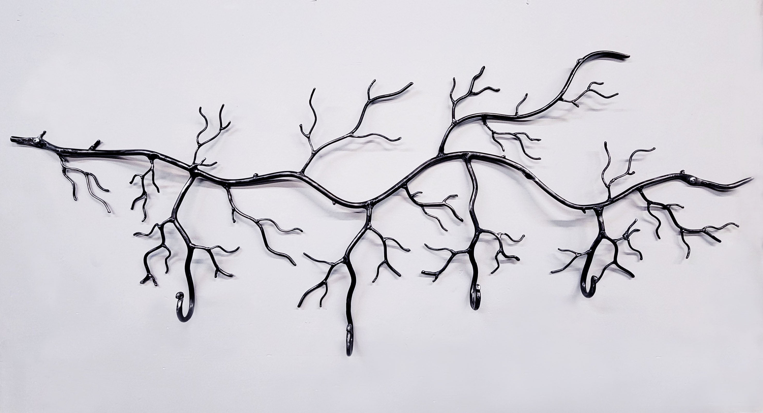 Large Tree Branch with 4 Hooks