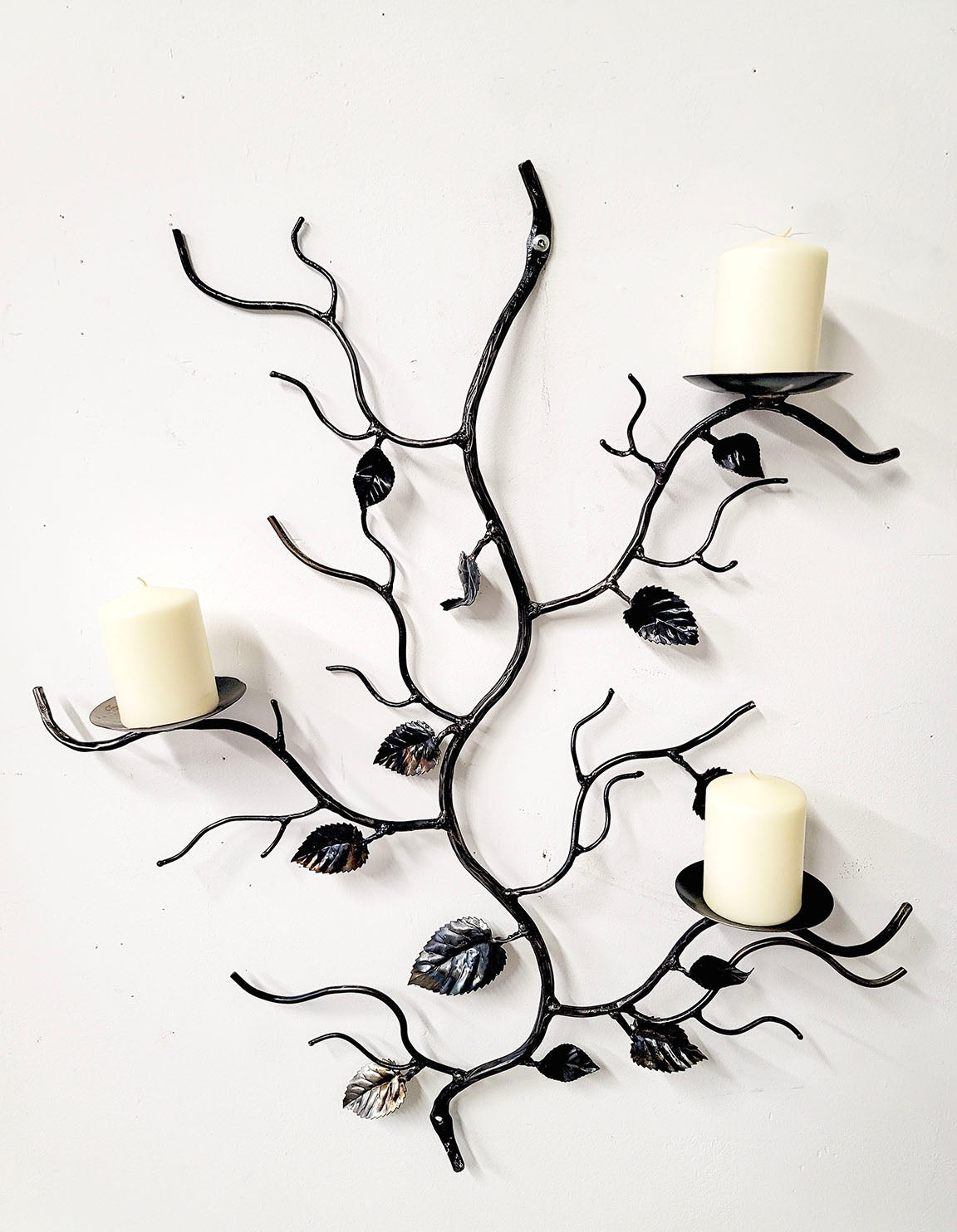 Branch Candle holder with Leaves