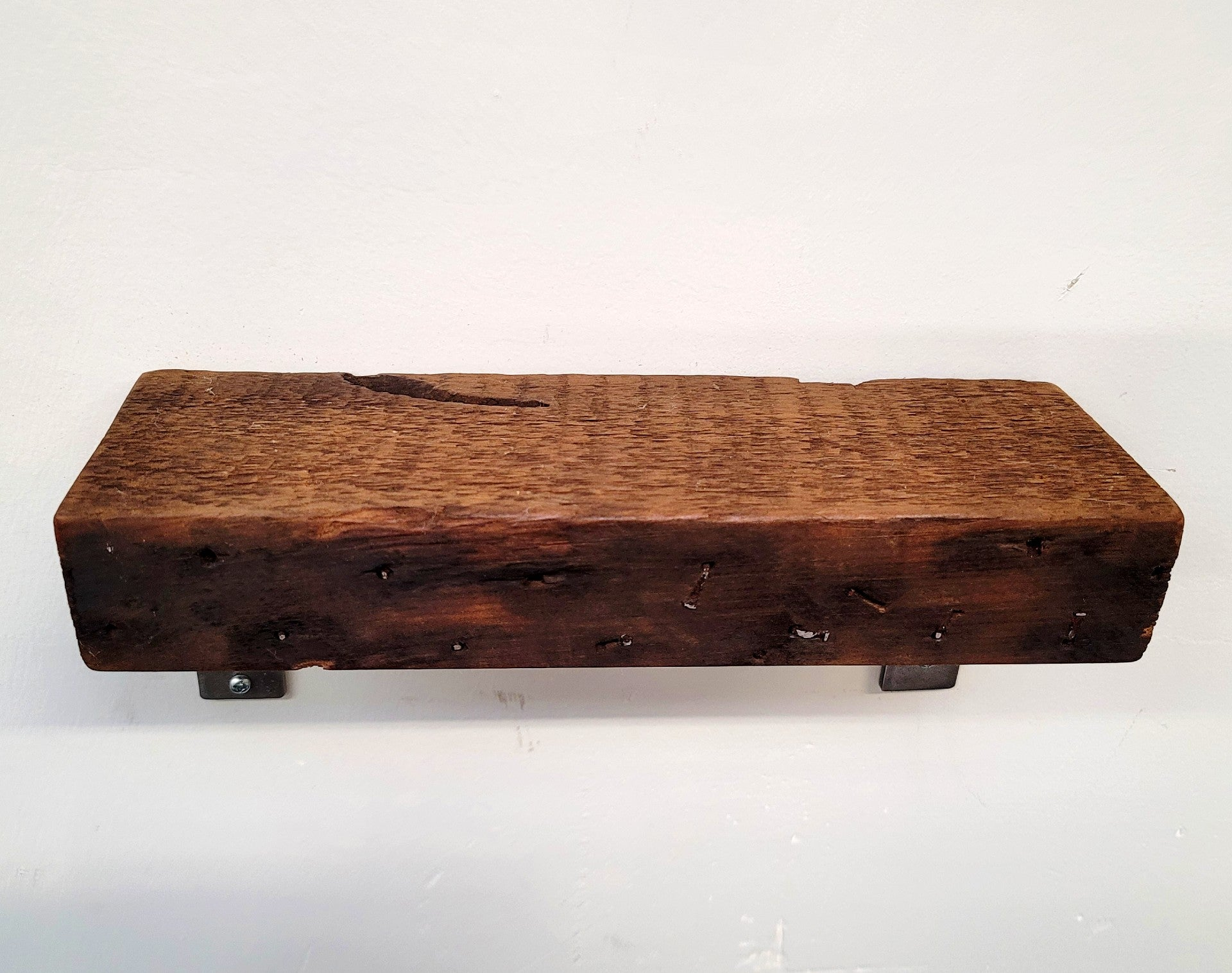 Small Reclaimed Wood Shelf with Branch Brackets