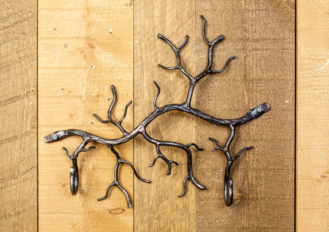 Steel Branch with 2 Hooks