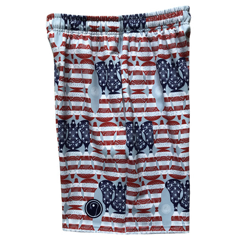 Boys American Flag Lacrosse Shorts