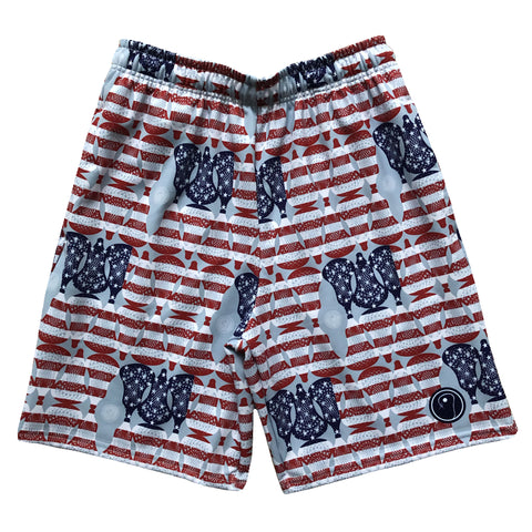 Mens American Flag Lacrosse Shorts