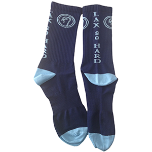 Performance Mid-Calf Lacrosse Socks - Blue