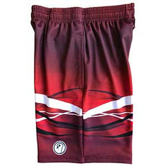 Boys Red Graphic Lacrosse Shorts