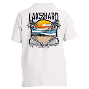 Boys Beach Lacrosse T-Shirt - White