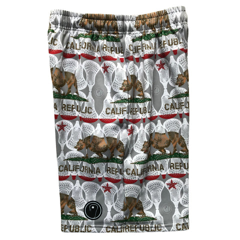 Boys California Flag Lacrosse Shorts