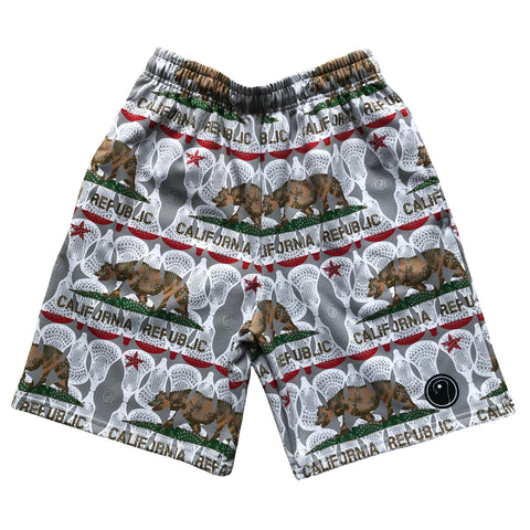 Mens California Flag Lacrosse Shorts
