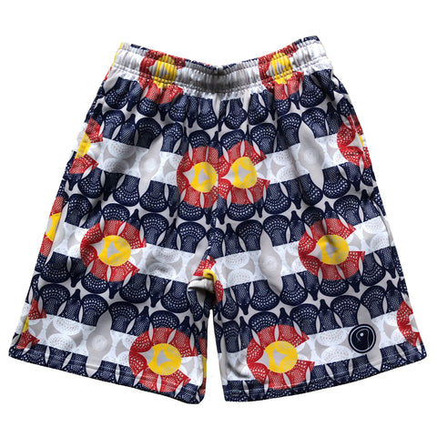 Mens Colorado Flag Lacrosse Shorts