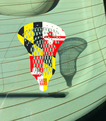 Maryland Flag Lacrosse Sticker