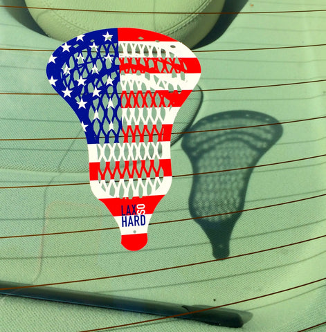 USA Flag Lacrosse Sticker