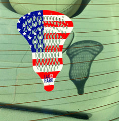 American Flag Lacrosse Sticker