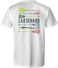 Boys Lacrosse Stick Colors T-Shirt - White