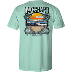 Mens Beach Lacrosse T-Shirt - Mint