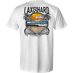 Mens Beach Lacrosse T-Shirt - White