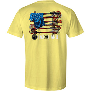 Mens Lacrosse Stick American Flag - Yellow