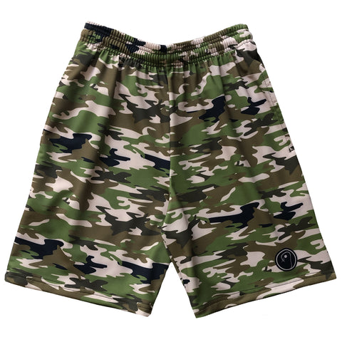 Boys Camo Lacrosse Shorts - Green