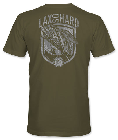 Mens Lacrosse Native T-Shirt - Military Green
