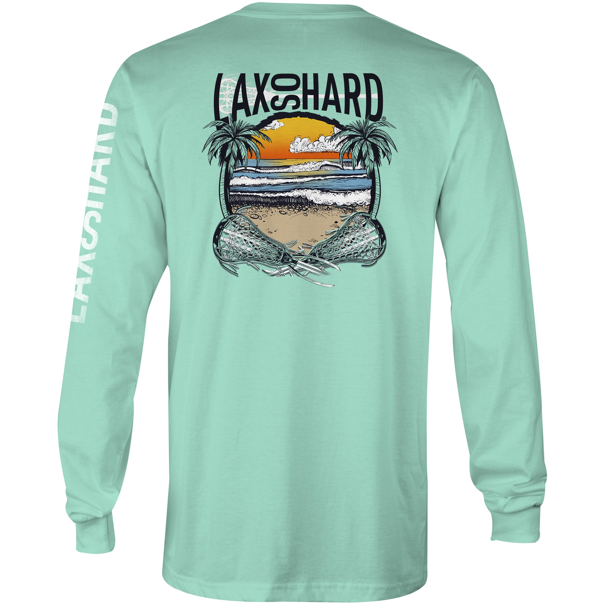 Women's Beach Lacrosse Long Sleeve T-Shirt - Mint