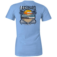 Women's Beach Lacrosse T-Shirt - Blue
