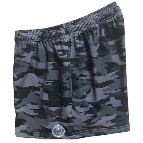 Womens Camo Lacrosse Shorts - Black