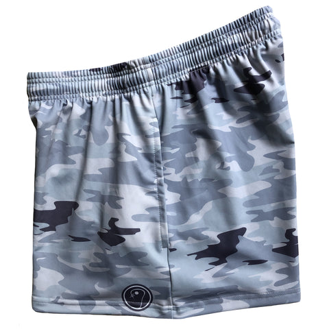 Womens Camo Lacrosse Shorts - Blue