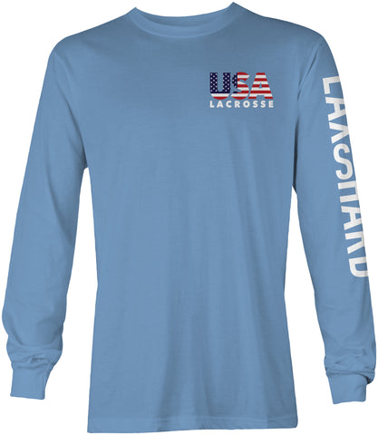 Youth American Lacrosse Long Sleeve T-Shirt
