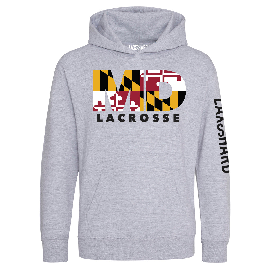 Youth Maryland Lacrosse Hoodie - Gray